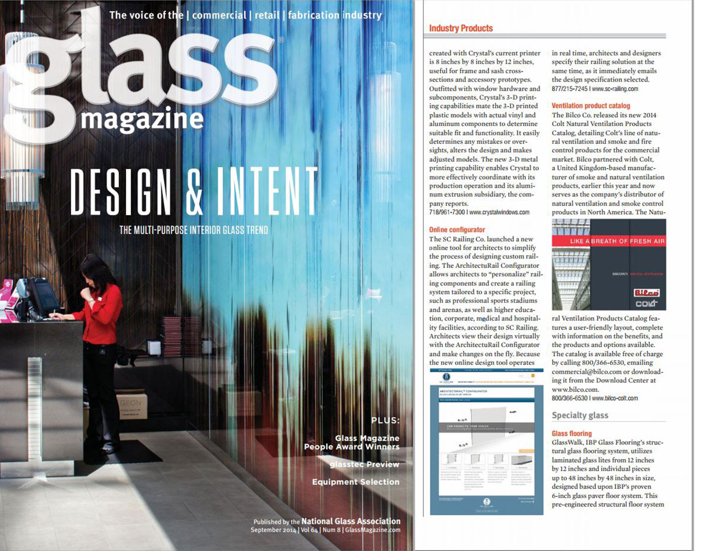 Glass magazine features ArchitectuRAIL™ Configurator