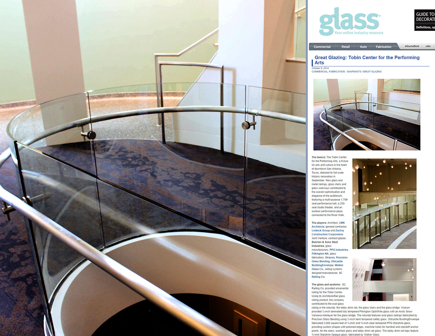 Tobin Center Featured in e-glass weekly!