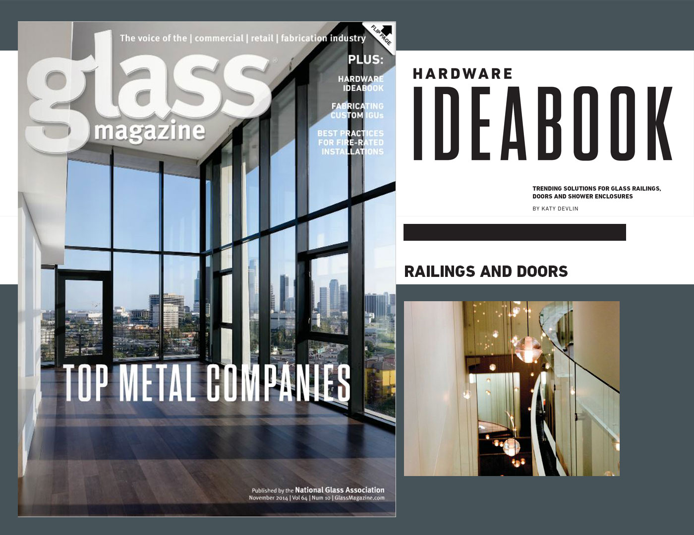 ArchitectuRAIL featured in Glass Magazine's Hardware: IdeaBook
