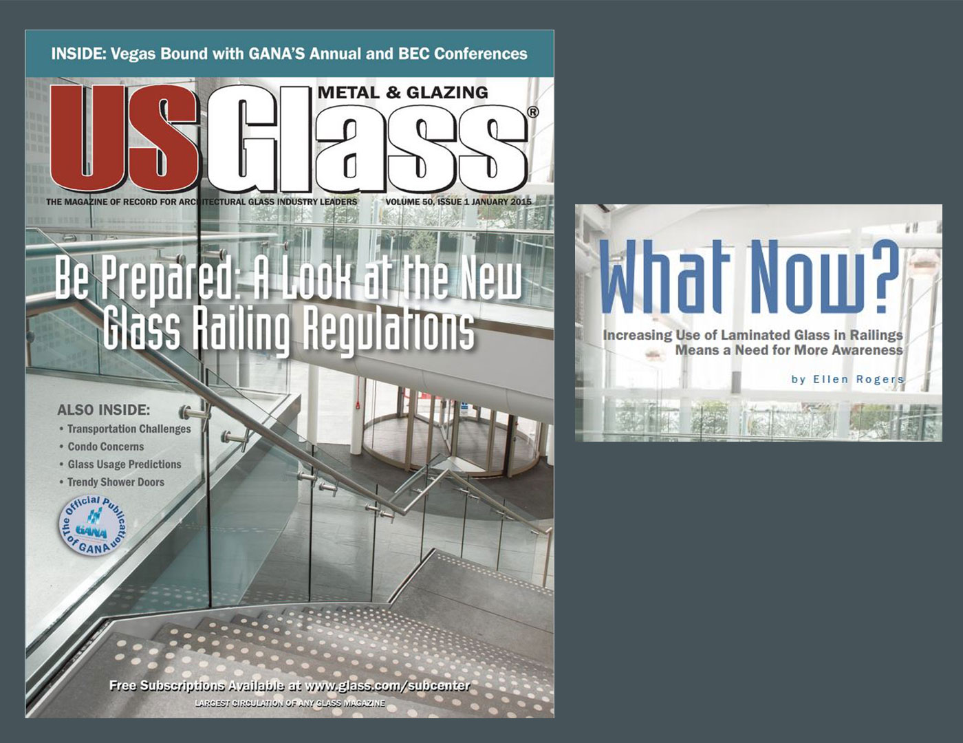 SC Railing Lends Insight to USGlass Magazine