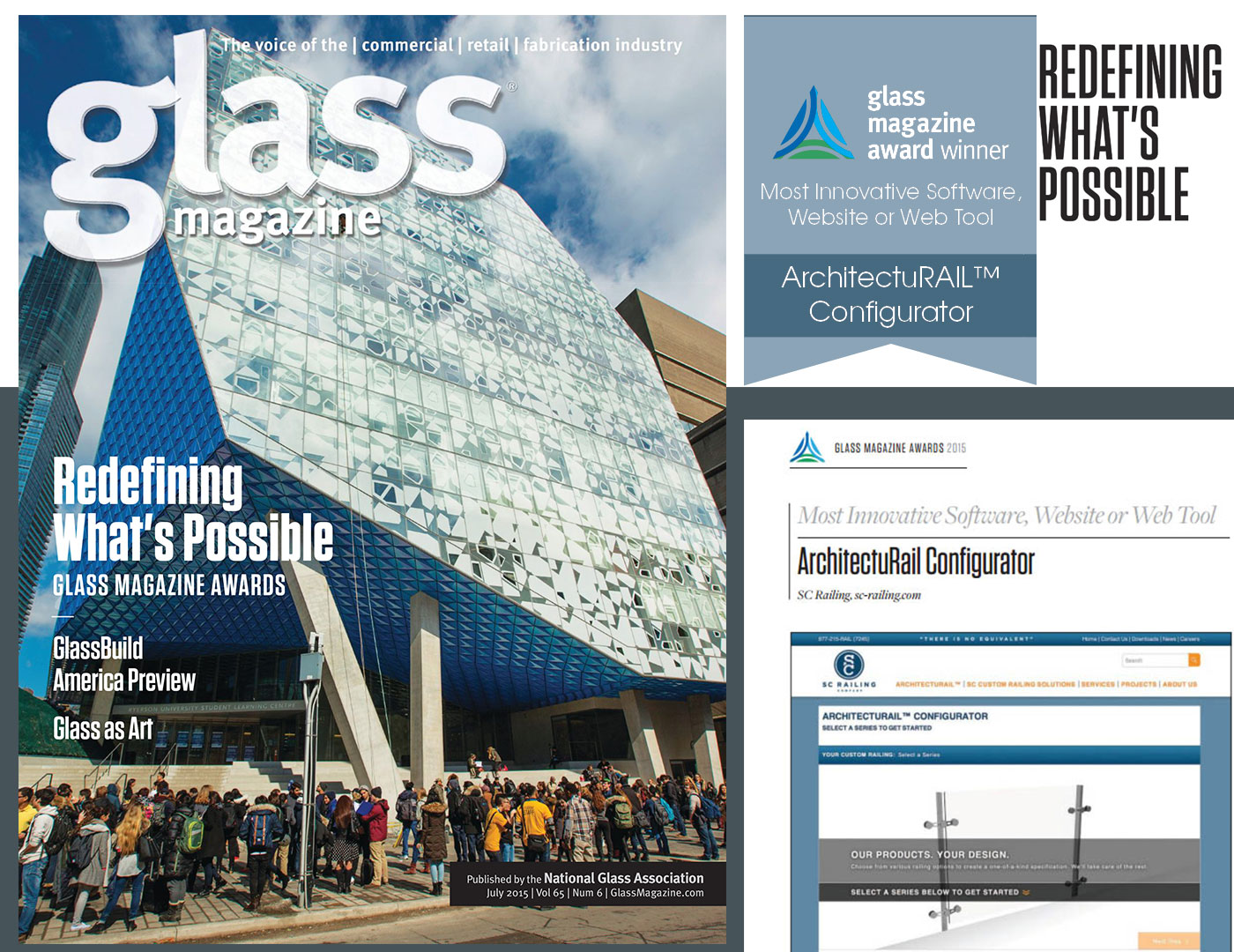 SC Railing is Honored to Receive Glass Magazine's Recognition