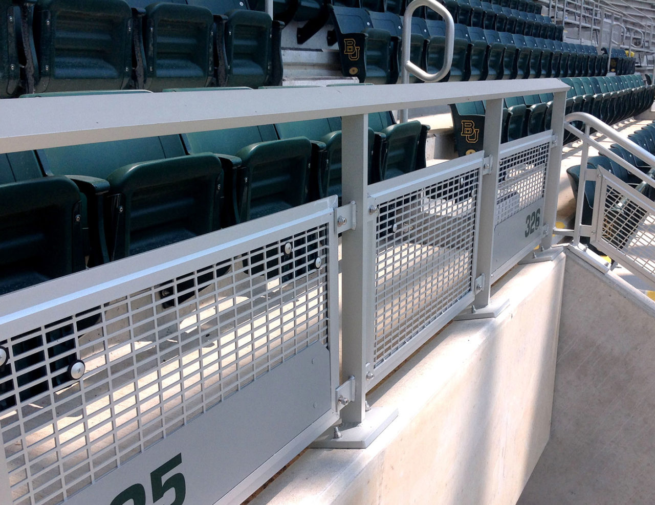 Gridguard aluminum perforated railing