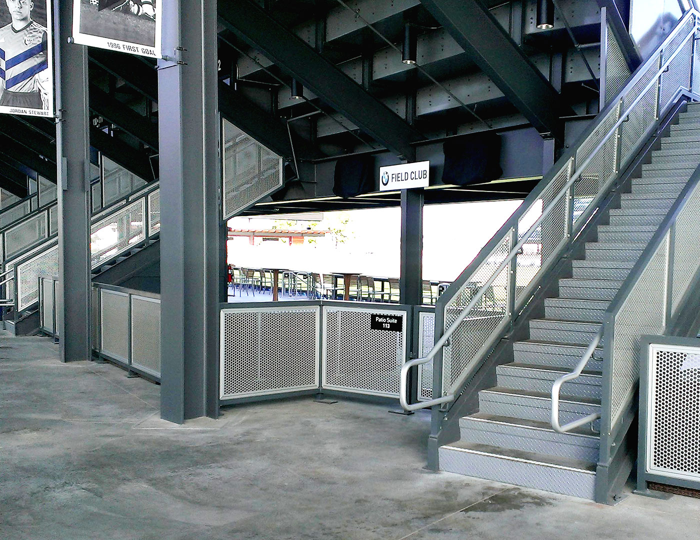 Gridguard perforated panel railing