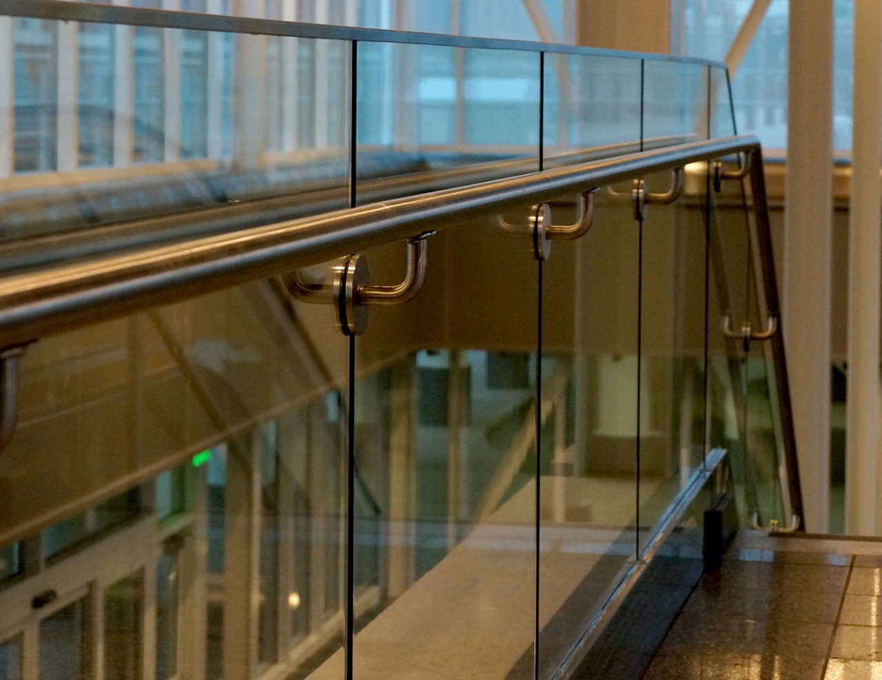 top cap and stainless steel handrail