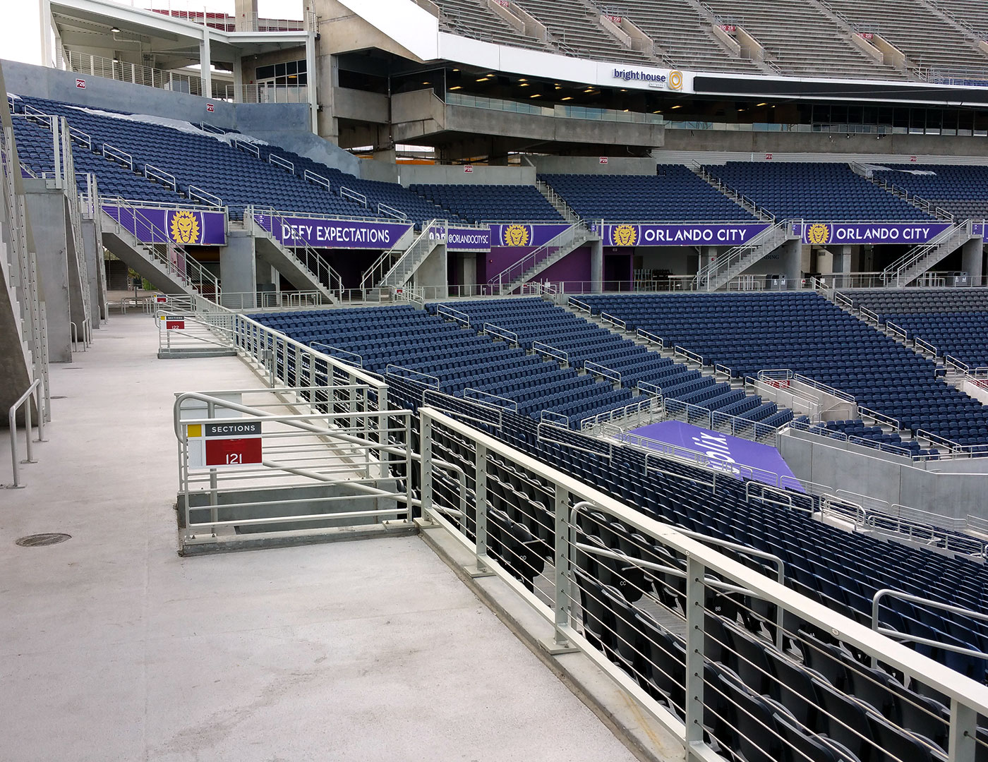 Tensiline cable railing at Citrus Bowl