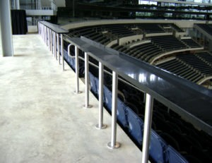 Custom post supported drinkrails at AT&T Stadium