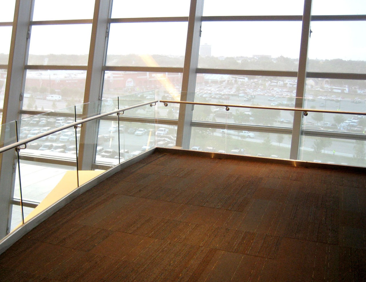Track Rails on balcony overlooks at Cowboys Stadium