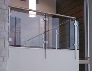 Emerus Hospital called for our Summit stainless steel flat bar post railing system