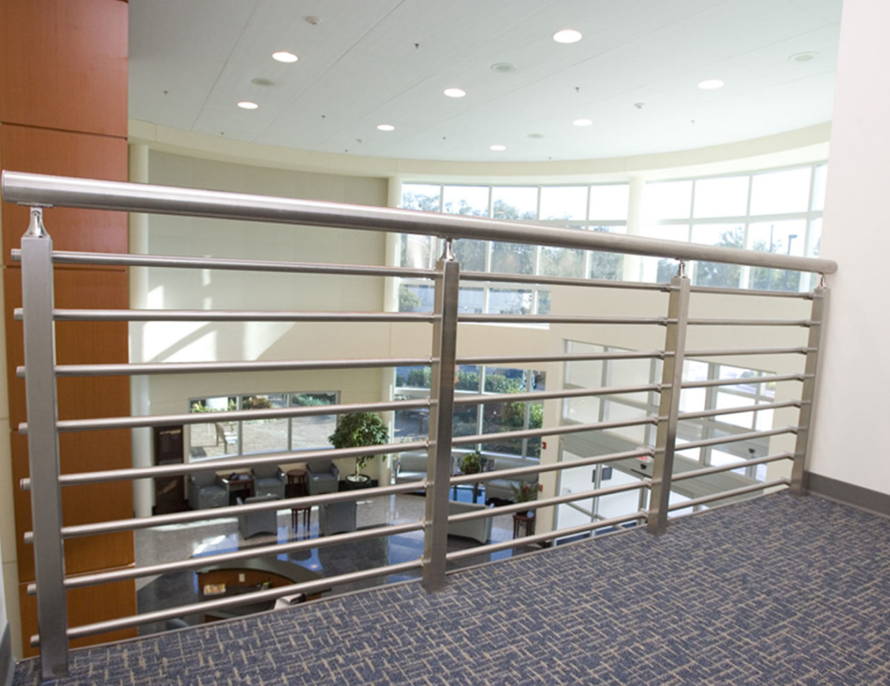 Glenlake stainless steel railing with top rail
