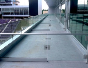 Custom glass gates were created as dividers