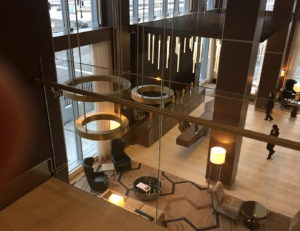 Point series glass railing with Point series standoffs