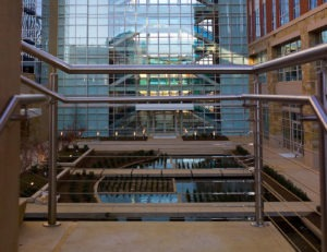 Corporate stainless steel cable railing