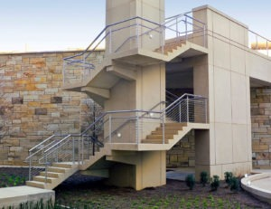 Casino stainless steel cable stair railing