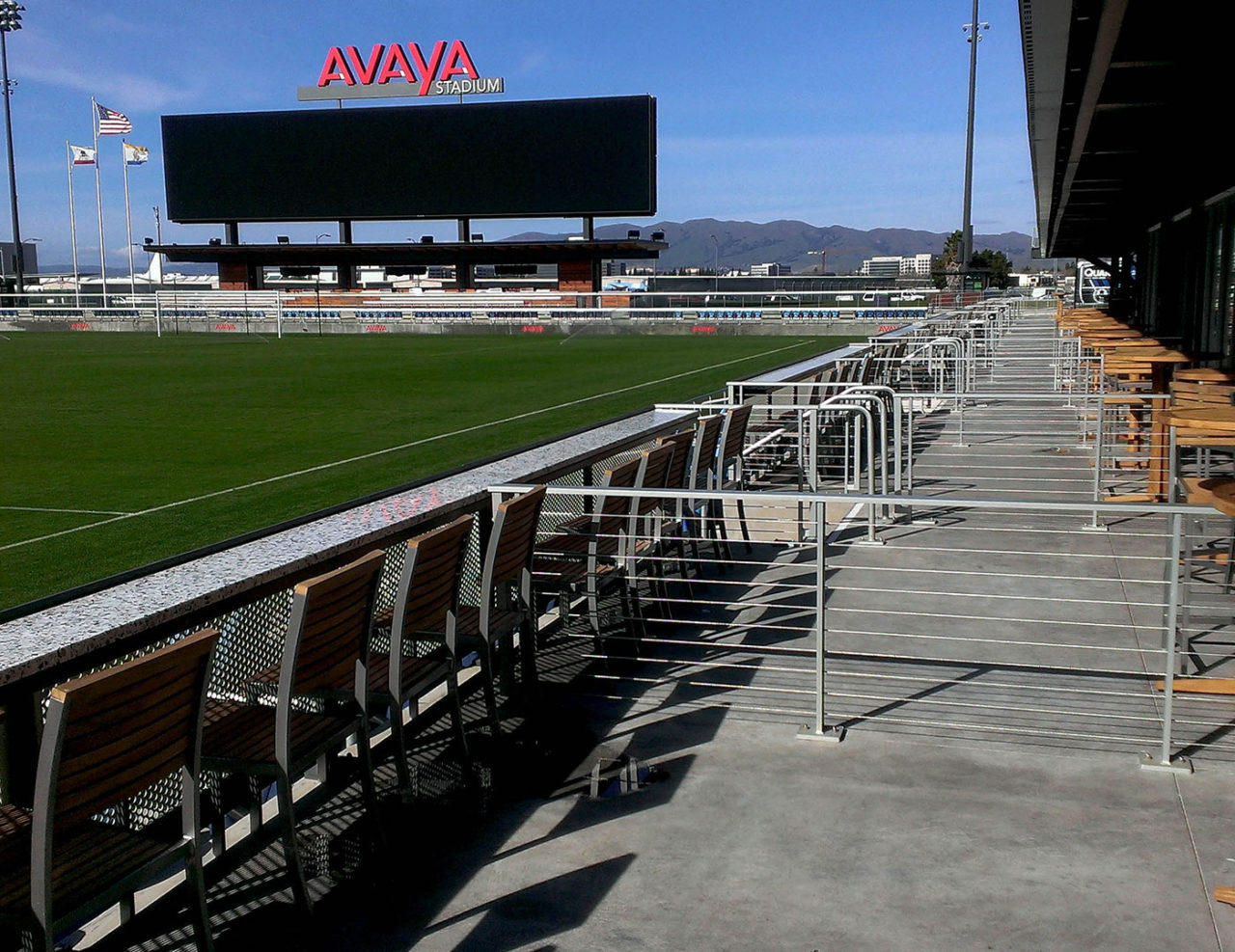 Avaya stadium used Tensiline cable railing as suite dividers