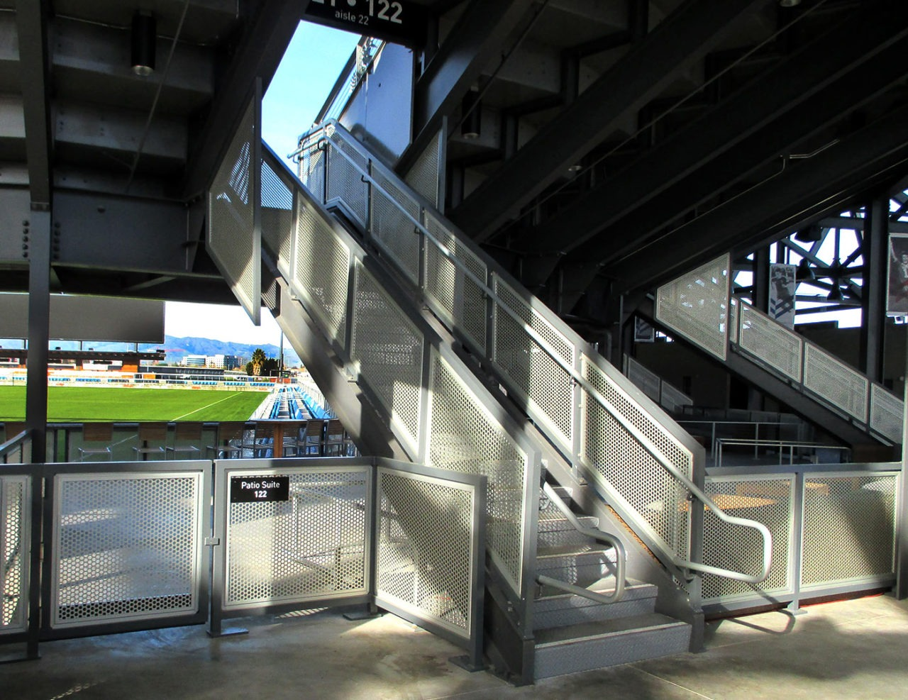MLS Stadium patio suite areas