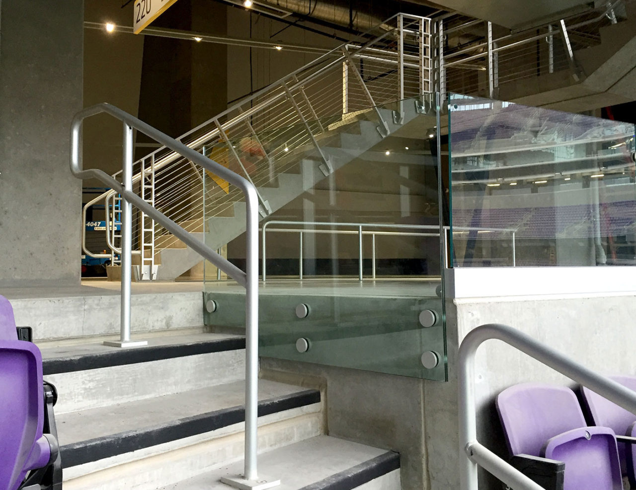 NFL Stadium with point series stair railing