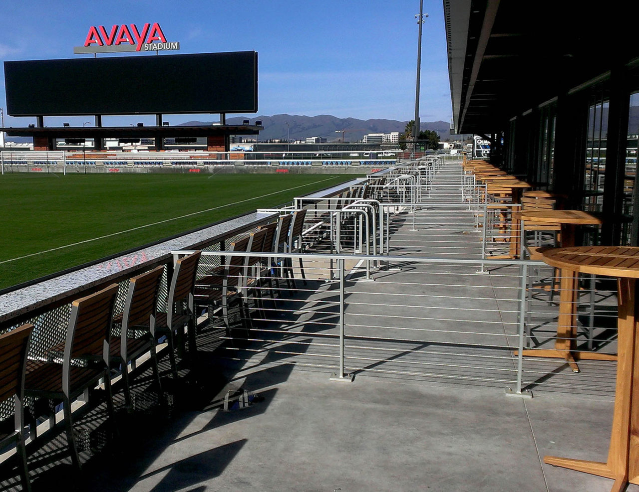 Avaya stadium used Tensiline cable railing as suite dividers.