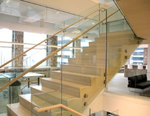Stainless Steel node mounted glass railing