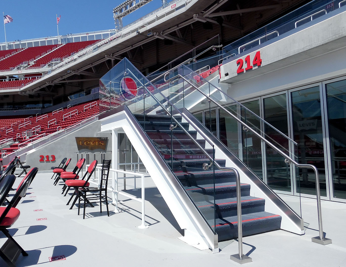 Levi's Stadium Glass Railing