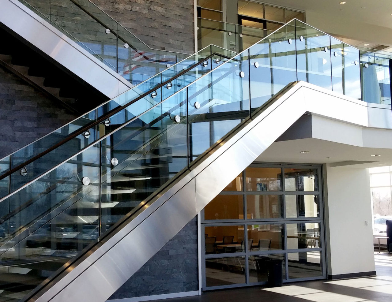 Base shoe commercial glass railing trex commercial products for Architectural railings