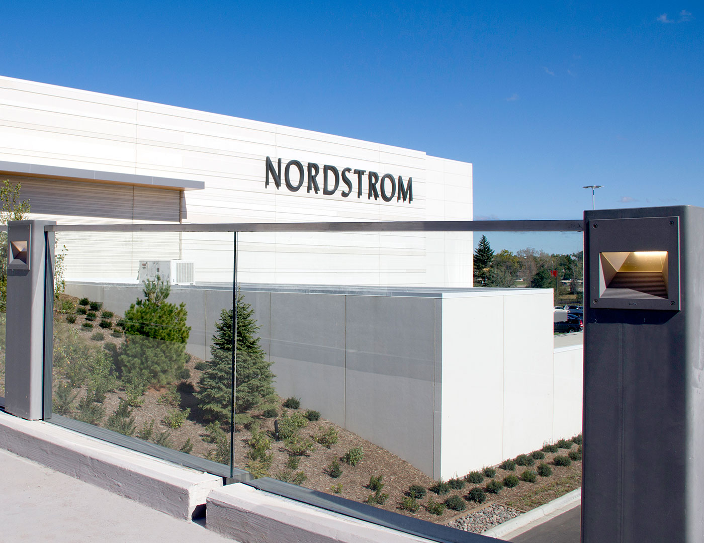 Exterior Glass Railing at Nordstroms