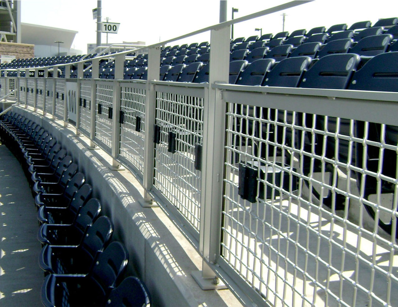 Cable and Mesh Rail Omaha, NE | TD Ameritrade Park | Trex Commercial ...