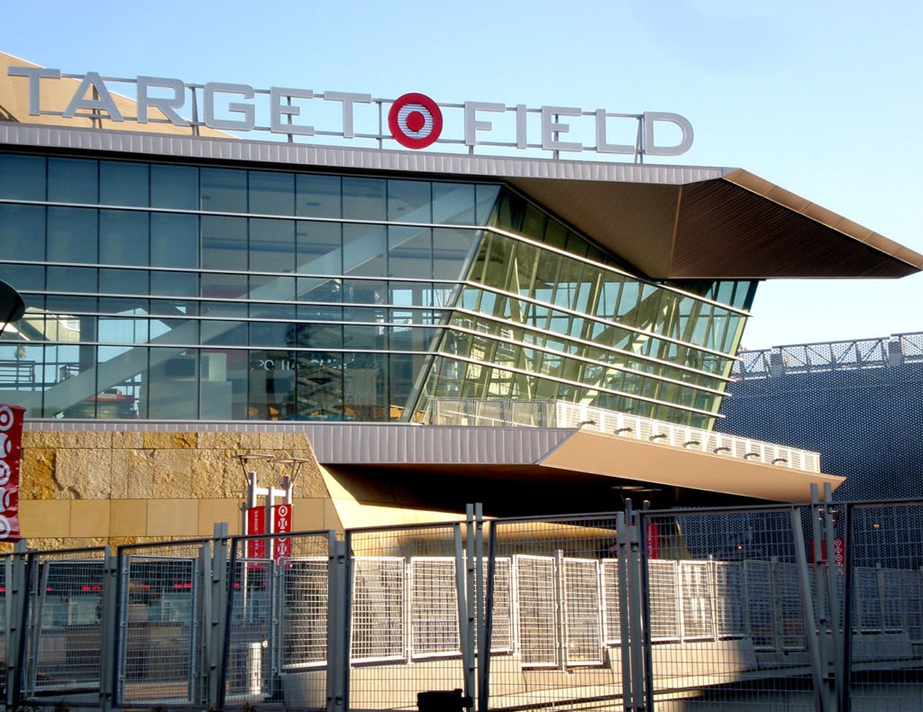 Ornamental railing, an operable seating platform and ornamental metals for Target Field