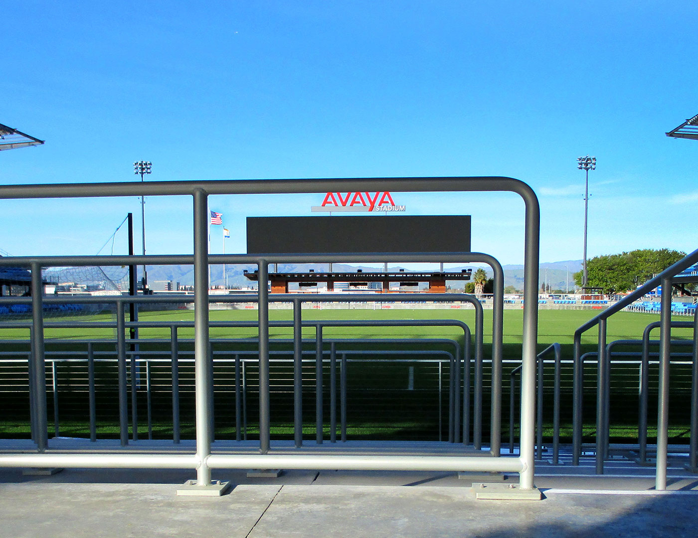 MLS Stadium aluminum Tube railing
