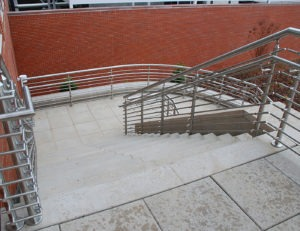 Optional post-mounted handrails