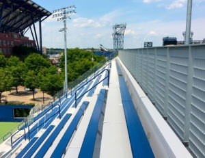 USTA South Campus seating bleachers