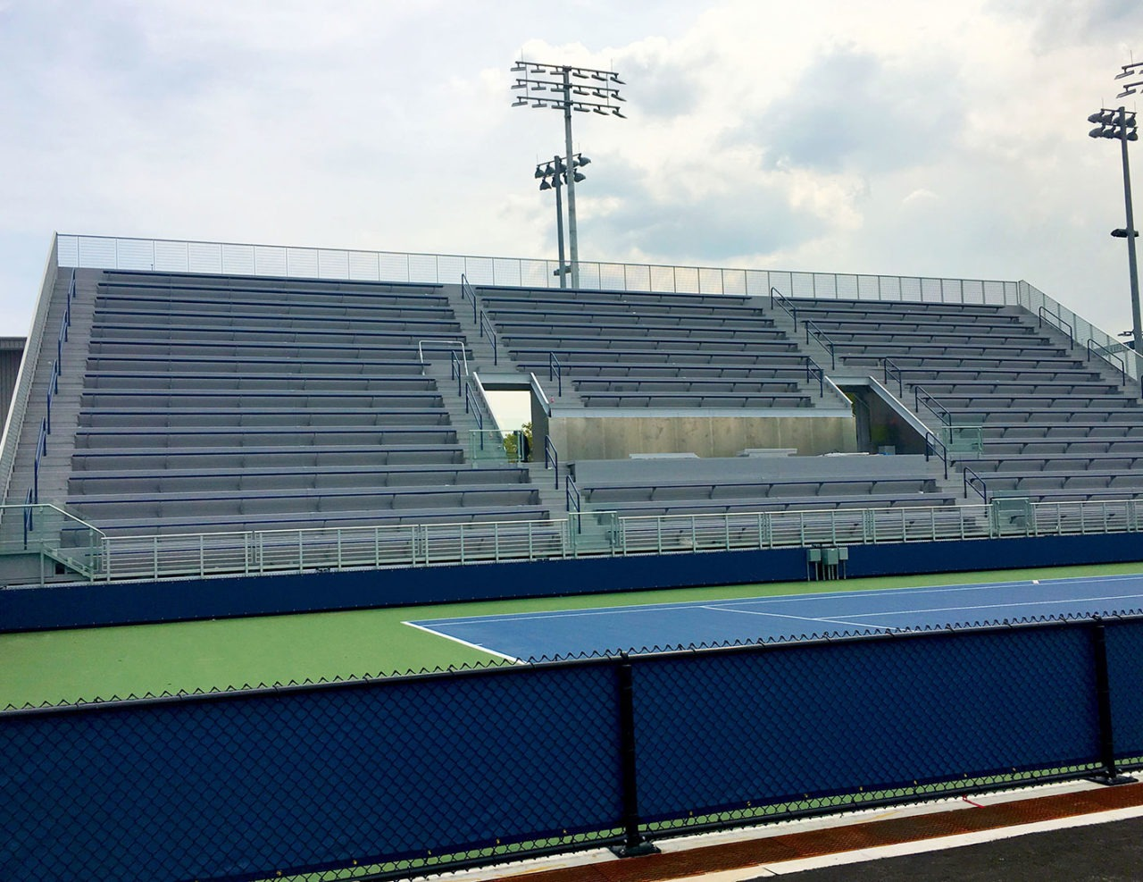 Gridguard and picket railing at USTA South Campus Tennis Courts