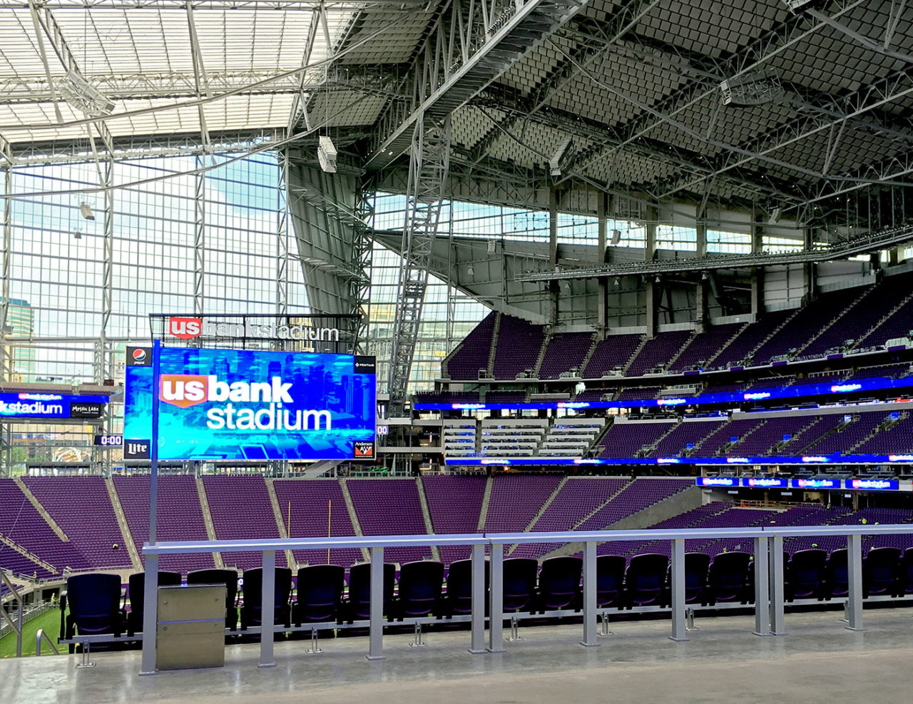 U. S. Bank Stadium Drinkrails