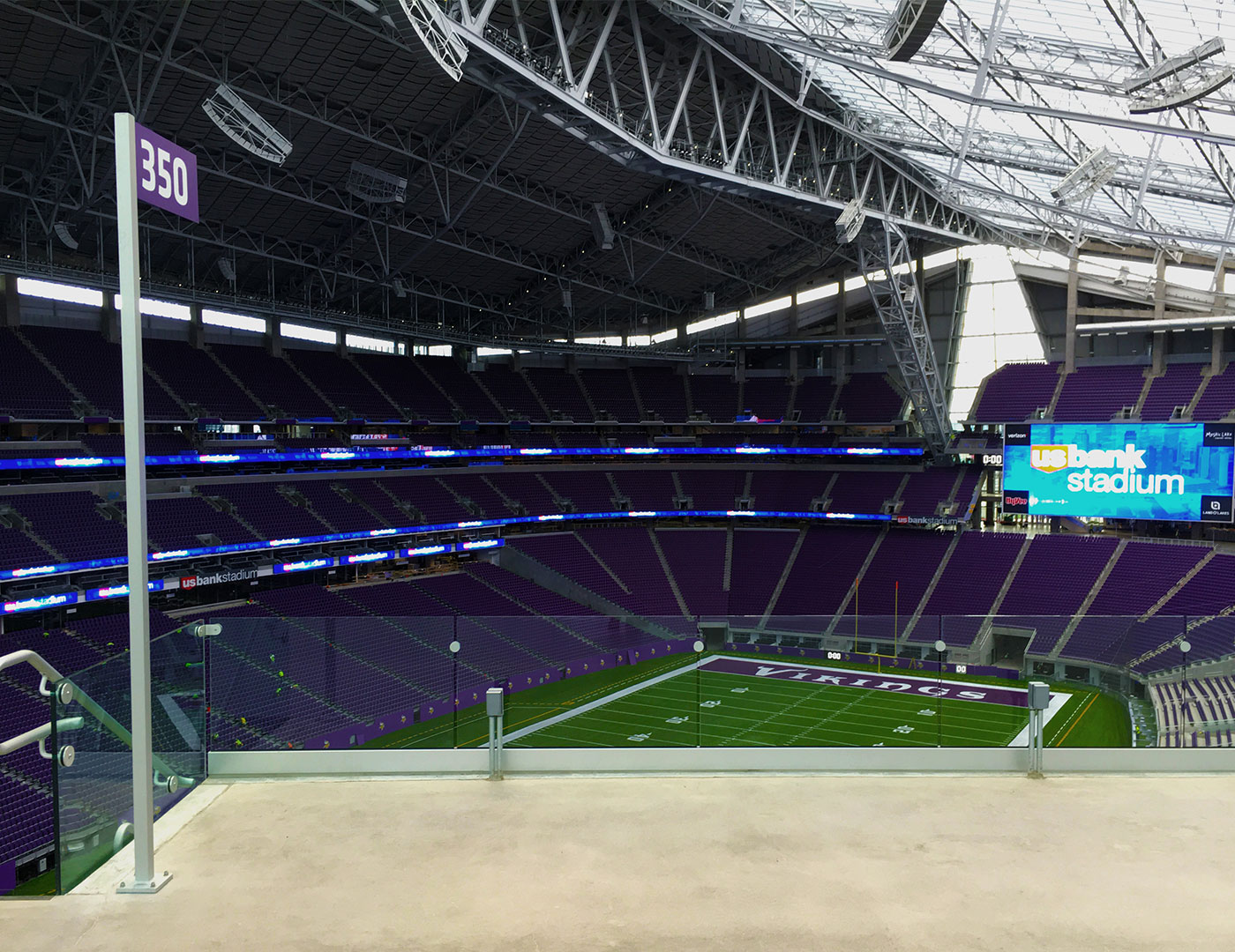 U. S. Bank Stadium ADA seating areas