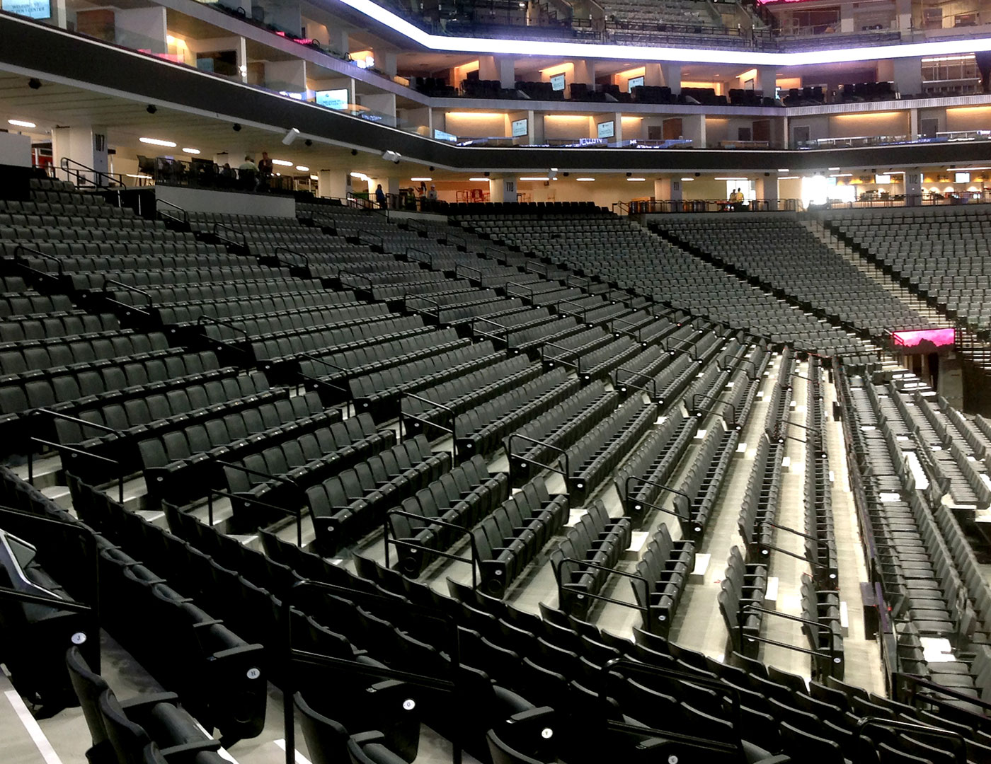 Golden 1 Center aisle railing