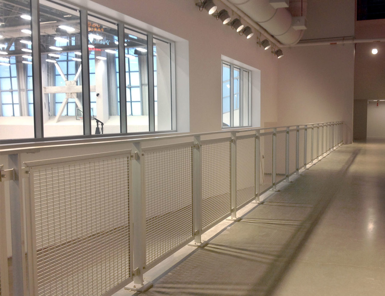 Gridguard mesh railing at Golden 1 Center practice facility