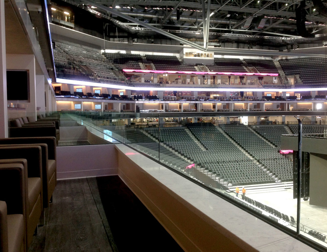 Golden 1 Center Custom Glass Railing