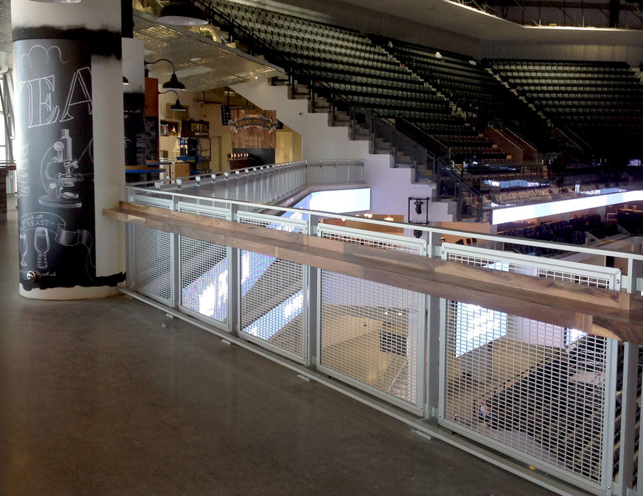 Golden 1 Center Mesh Railing