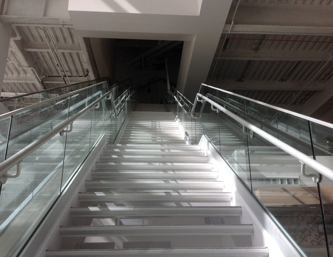 Golden 1 Center glass railing