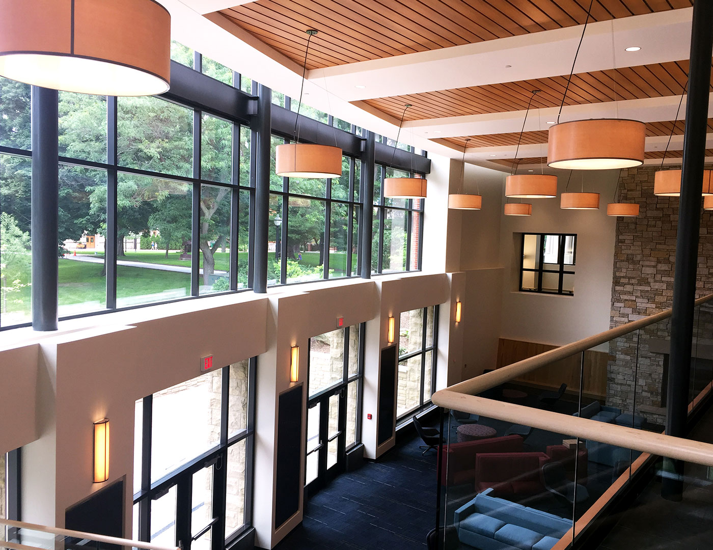 College Student Center - Glass Railing