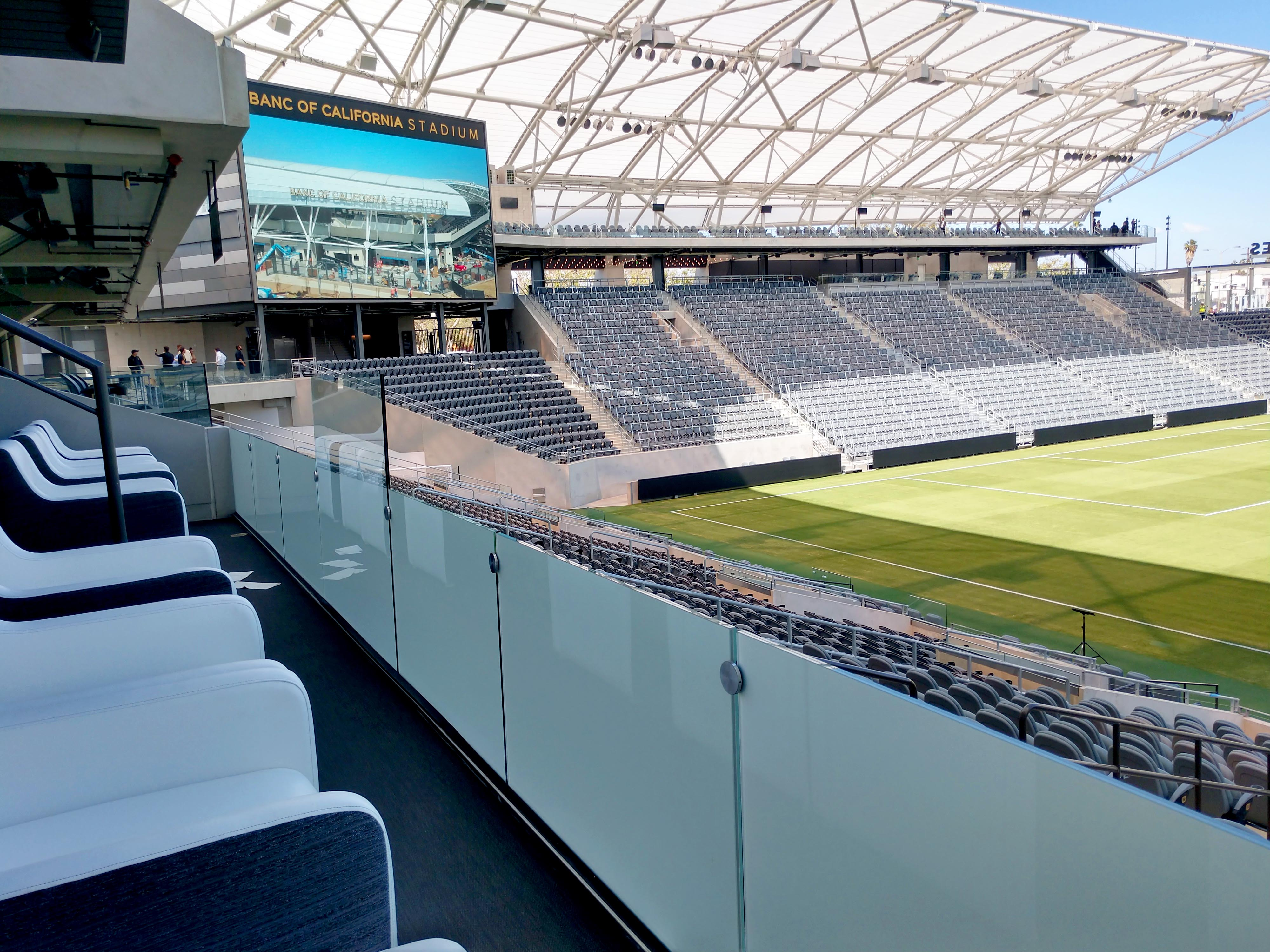 Banc of California Stadium Railing