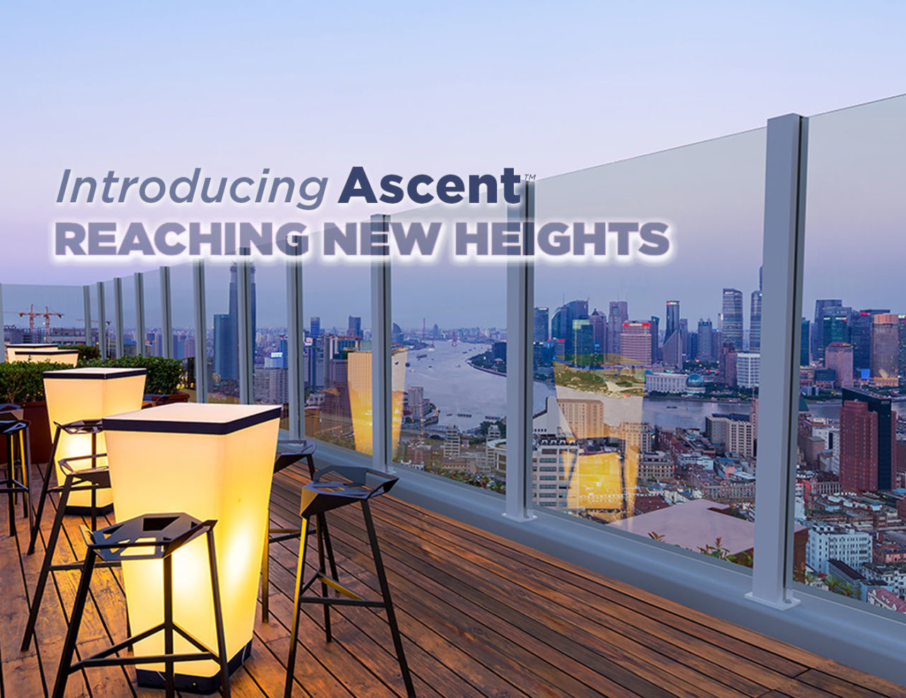 Ascent™ Glass Windscreen | Trex Commercial Products, Inc